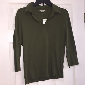 Maurices Olive Green 3/4 Sleeve Shirt Large